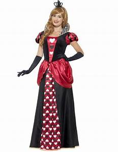 Long queen of hearts costume for women - Plus Size - Vegaoo