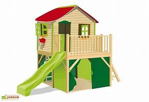 Cabane Exterieur Enfant : maison enfant bois et plastique fanfan maisonnette ou ~ Melissatoandfro.com Idées de Décoration