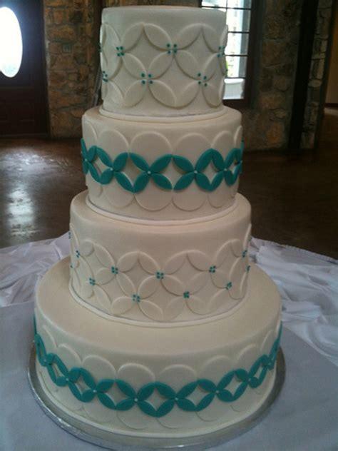 white turquoise wedding cake cakecentralcom
