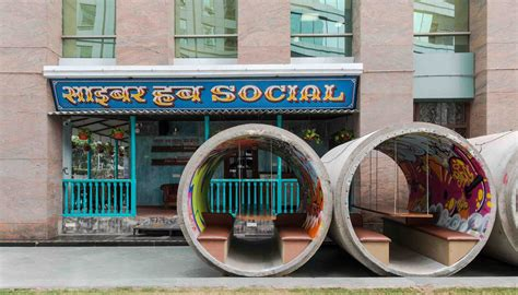 cyber hub social chromed design studio archdaily