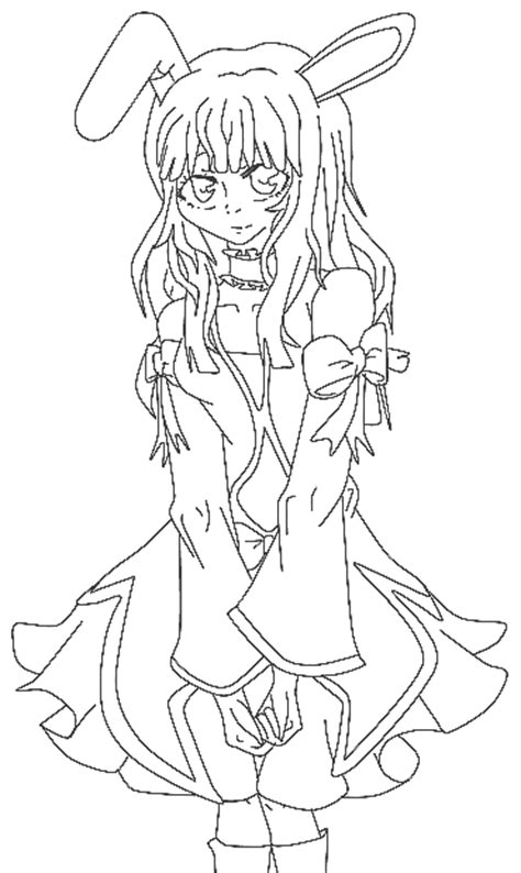anime bunny coloring page coloringcom