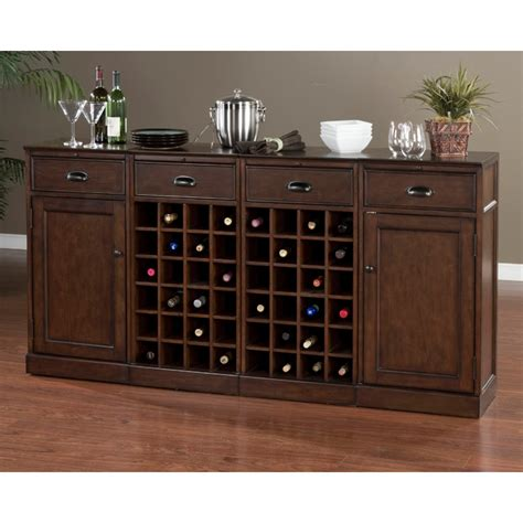 natalia  piece modular cabinet set wine rack drawers