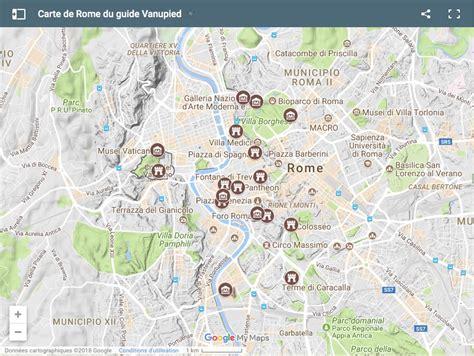 Carte Detaillee Des Monuments De by Carte D 233 Taill 233 E De Rome Avec Tous Les Lieux Du Guide