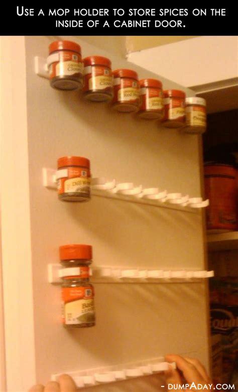 amazing easy diy home decor ideas mop holder spice rack