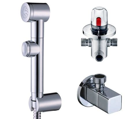 Bidet Jet by Free Shipping Thermostatic Mixer Valve Held Spray