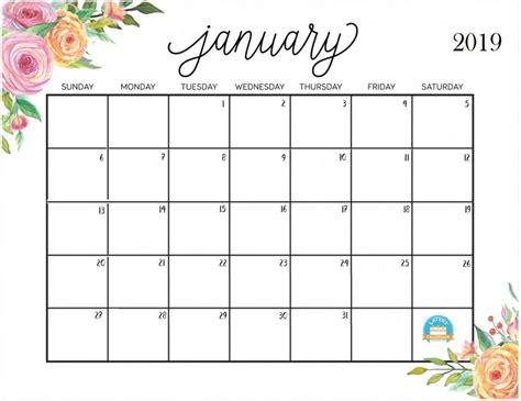 January 2019 Calendar For Desktop 2018 Calendar Printable