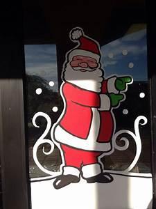 Christmas, Window, Painting, Santa