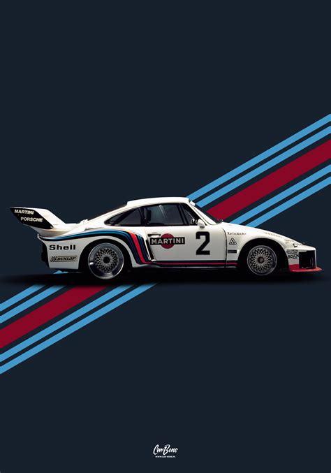 Porsche 935 martini livery #1 poster, vertical – Car-Bone.pl