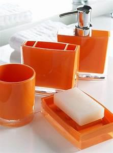 Deco Salle De Bain Accessoires : accessoires d co orange ~ Teatrodelosmanantiales.com Idées de Décoration