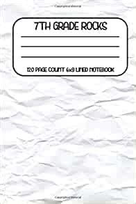 grade rocks  page count  lined notebook writing