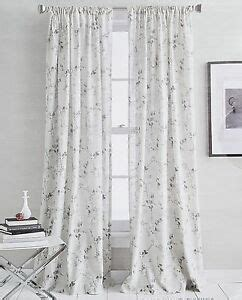 dkny curtains drapes dkny grey floral branches window curtains panels set of 2
