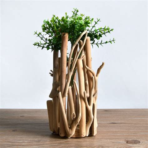 f habitat slow life handmade wooden ornaments wooden flower pots flowers into a vase decorated