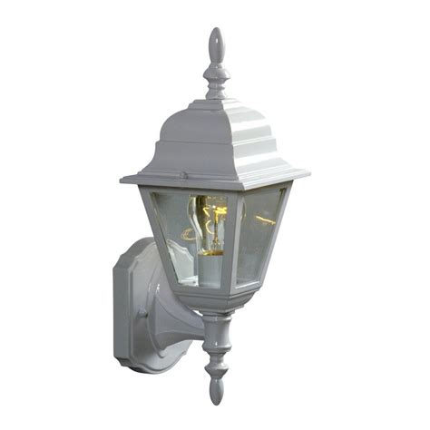 galaxy 15 375 in h white outdoor wall light at lowes com
