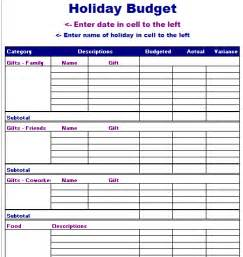 budget template free layout format