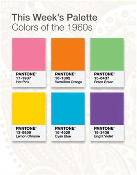 60s colors 17 best ideas about pantone colours on pantone