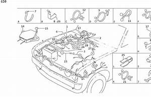 Datsun 620 Clamp Hose  Clip Accelerator Wire  Clip Hose