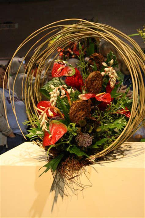 individual flower arrangements  philadelphia flower show