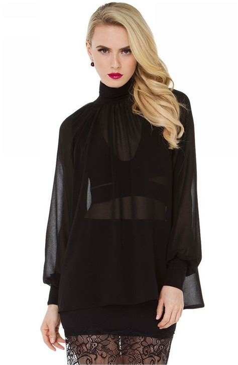 sheer black blouse 9 best images about chiffon blouse shirts on