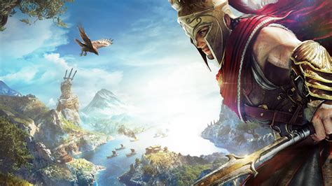 wallpaper assassins creed odyssey alexios  games