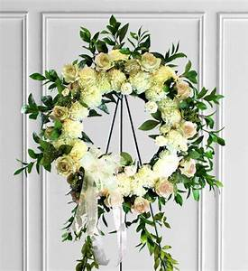 White Sympathy Wreath | Avas Flowers