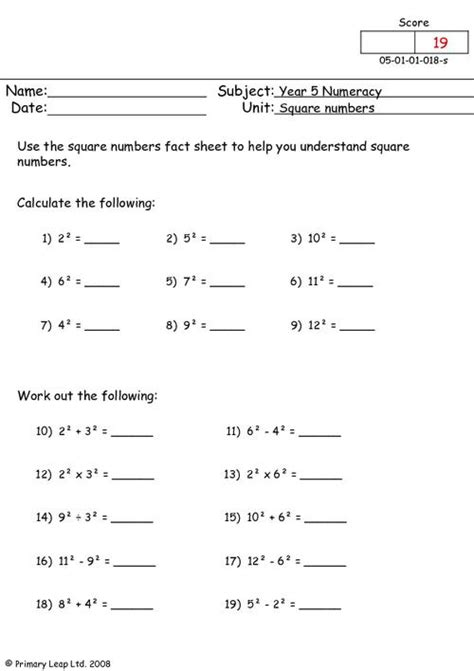 images  perfect square roots worksheet perfect