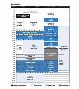 program schedule template 7 free sample example format With fitness program template free download