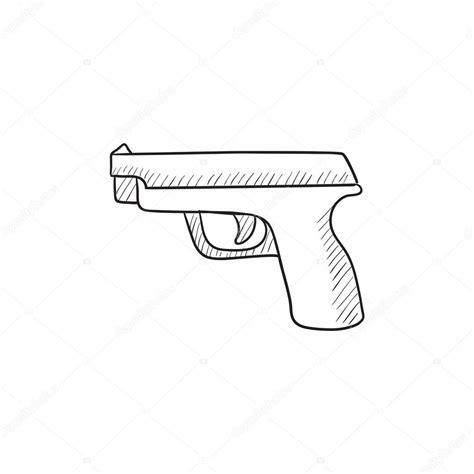 Ver más ideas sobre pistola dibujo, cosas de dibujo, tutoriales de dibujo. Icono de esbozo de arma de fuego — Archivo Imágenes Vectoriales © rastudio #112222036