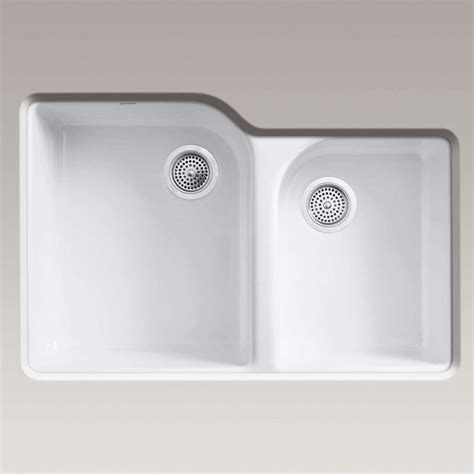 Kohler Executive Chef Sink Basket White by Kitchen Sinks Taps Kohler Executive Chef Cast Iron Sink