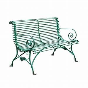 Banc En Fer : banc de jardin en m tal fer forg style grassin ~ Preciouscoupons.com Idées de Décoration