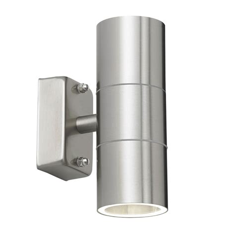 canon external wall light endon canon up outdoor wall light ip44 35w polished