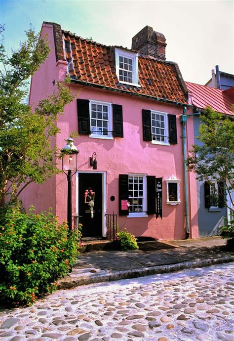 colonial pink house charleston sc castles in the sky