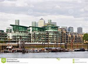 Apartment Blocks On River Thames. London. England Royalty ...