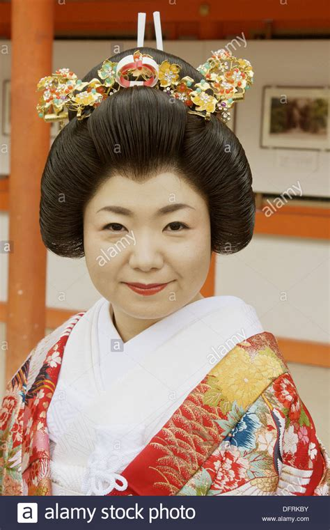 married japanese bride wearing  traditional