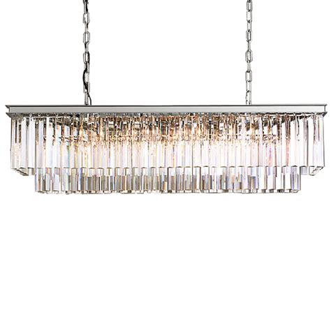 odeon 12 light clear glass fringe chandelier in polished