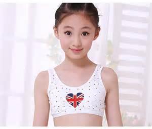 JUNIOR Girls Wire Free Training Bras Middle and big Children Sports Camisole Undies Underwear Vest Student Cosy Undies 100% cotton(10 to 16Y