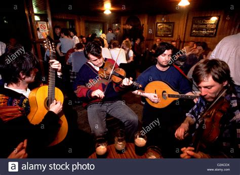 Traditional Irish music session in Madden's Bar, Belfast