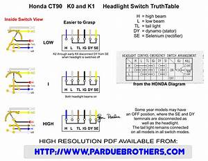 Electrical Questions Related To Headlamp Switch