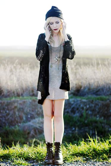 Madeline Pendleton - Chic Wish Sweater Native Tank Dress Vintage Boots - Hole-y Moly | LOOKBOOK