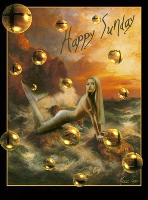 happy sunday mermaid facebook comments  graphics happy