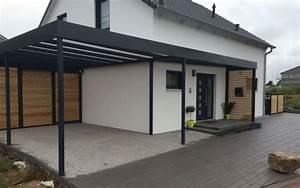 Haus Mit Doppelcarport : carport stahl mit glasdach und integriertem zaun garten ~ Articles-book.com Haus und Dekorationen
