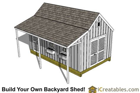 12x20 shed plans with porch 12x20 cape cod shed with porch plans icreatables