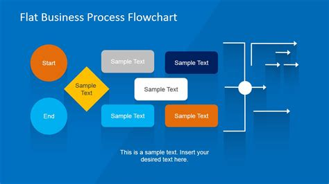 powerpoint workflow template flat business process flowchart for powerpoint slidemodel