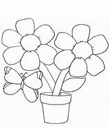 Coloring Flower Pages Printable Bouquet Downloadable sketch template