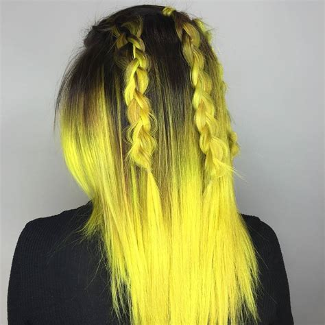 Black And Yellow Hair Color by 25 Stunning Yellow Hair Color Ideas Bright As The Sun