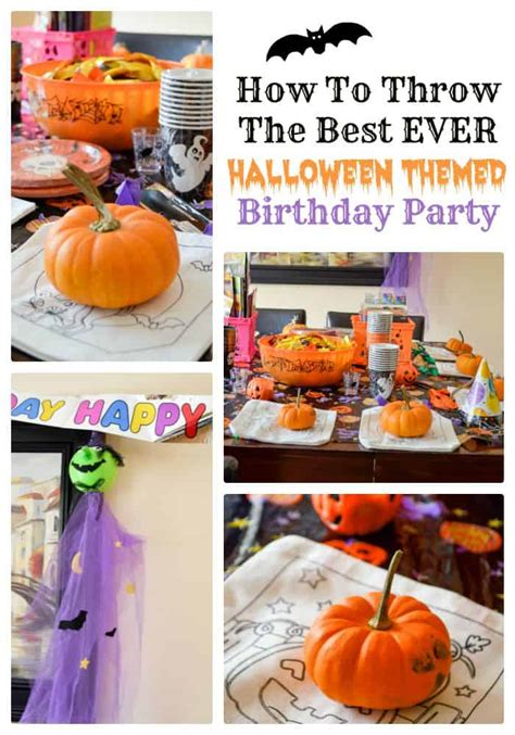 How To Throw The Best Ever Halloween Themed Birthday Party