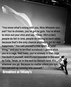 Breakfast At Tiffanys | Motovational or Inspiring Quotes ...