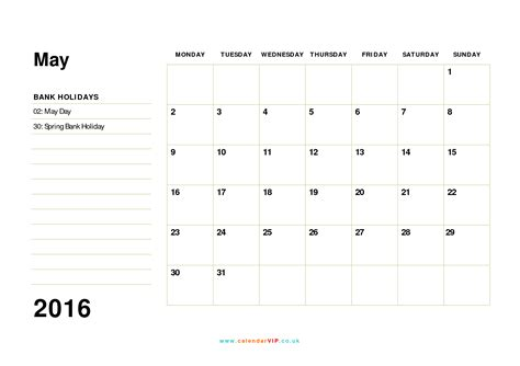 calendar monthly calendar templates uk