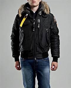PARAJUMPERS Gobi Men Black Masterpiece Down Bomber Jacket Parajumpers Coats Jackets