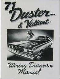 1971 Plymouth Duster Wiring Diagram by 1971 71 Plymouth Duster Valiant Wiring Diagram