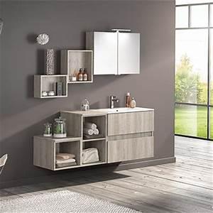 Grand meuble salle de bain 150 cm espace aubade for Salle de bain design avec meuble salle de bain 60 cm castorama
